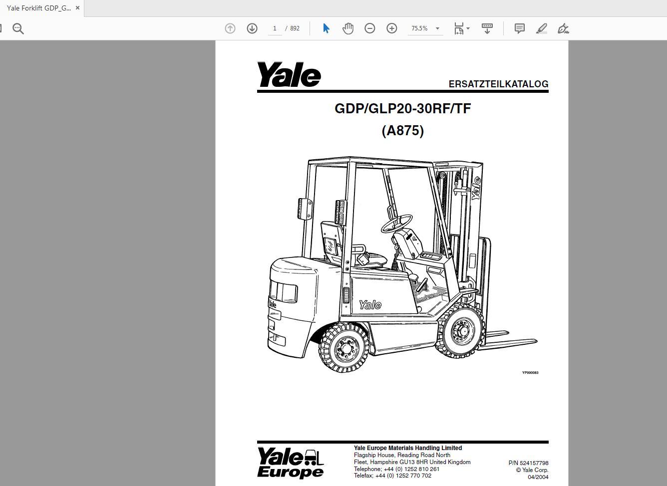 Yale Archives - Auto Repair Software-Auto EPC Software-Auto