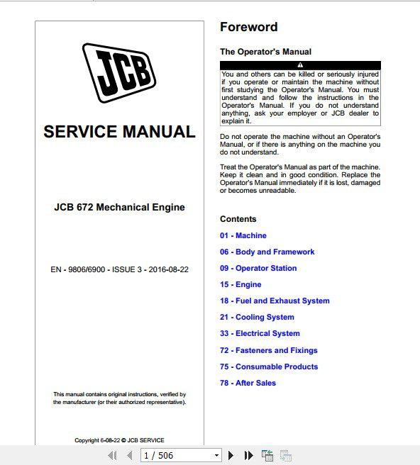 Jcb Engines Dieselmax Tier 2 3 672 Electronic Engine Ek Ee