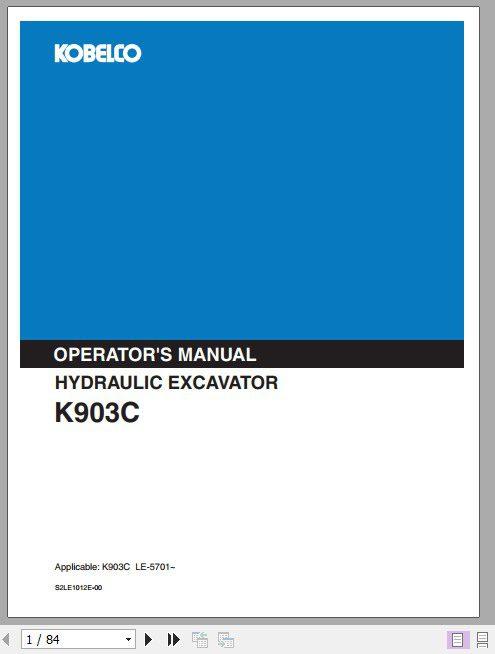 Kobelco_Hydraulic_Excavator_K903C_Operators_Manual_1