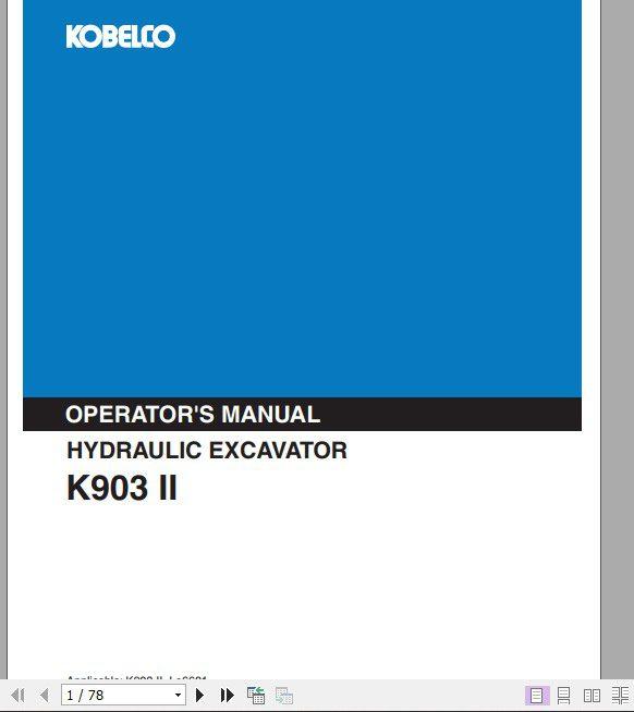 Kobelco_Hydraulic_Excavator_K903_II_Operators_Manual_1