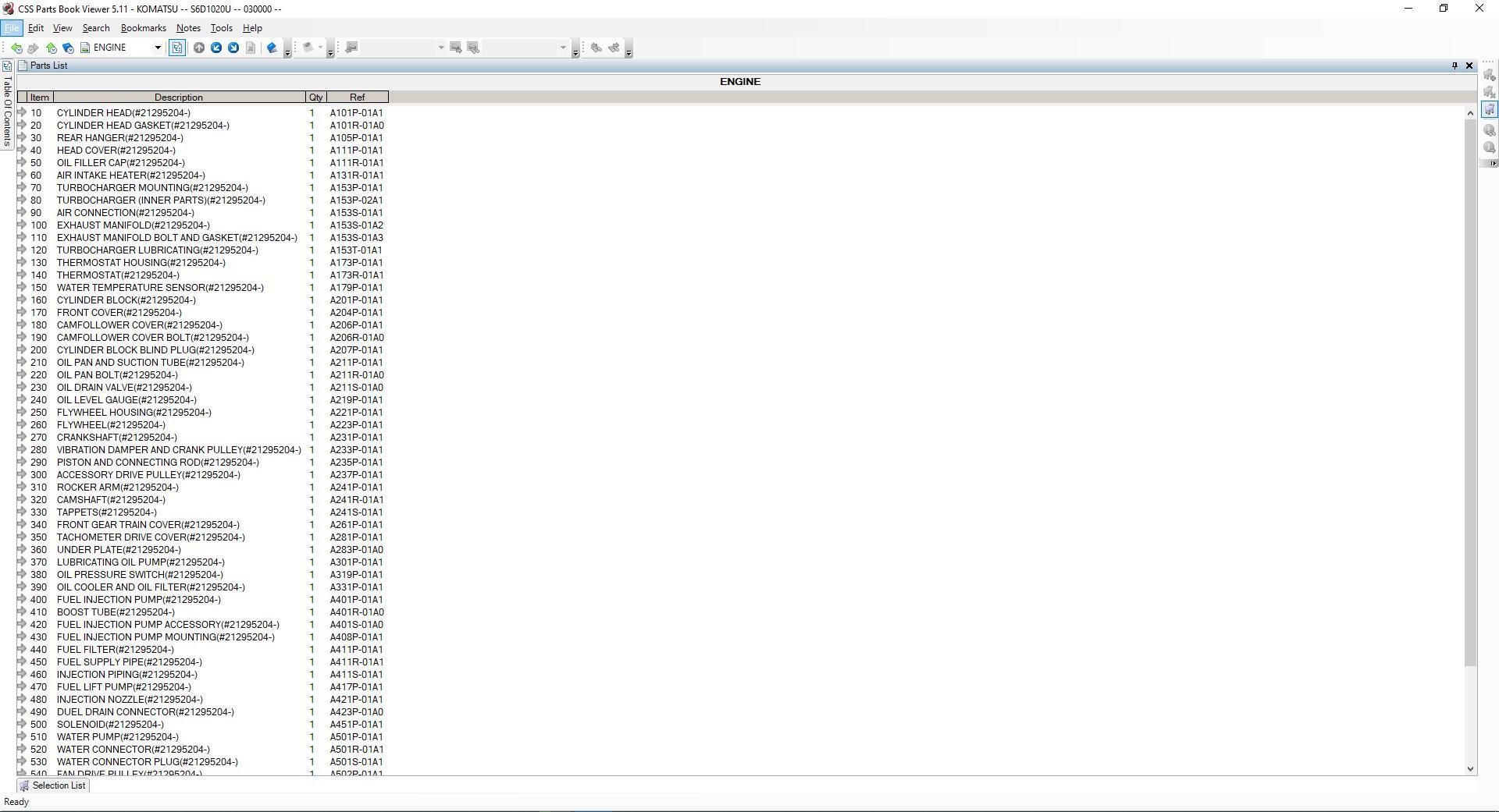 Komatsu_EPC_Linkone_CSS_Parts_Vewer_511_102019EU2