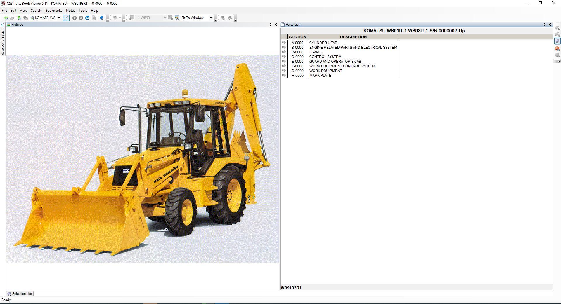 Komatsu_EPC_Linkone_CSS_Parts_Vewer_511_102019EU8
