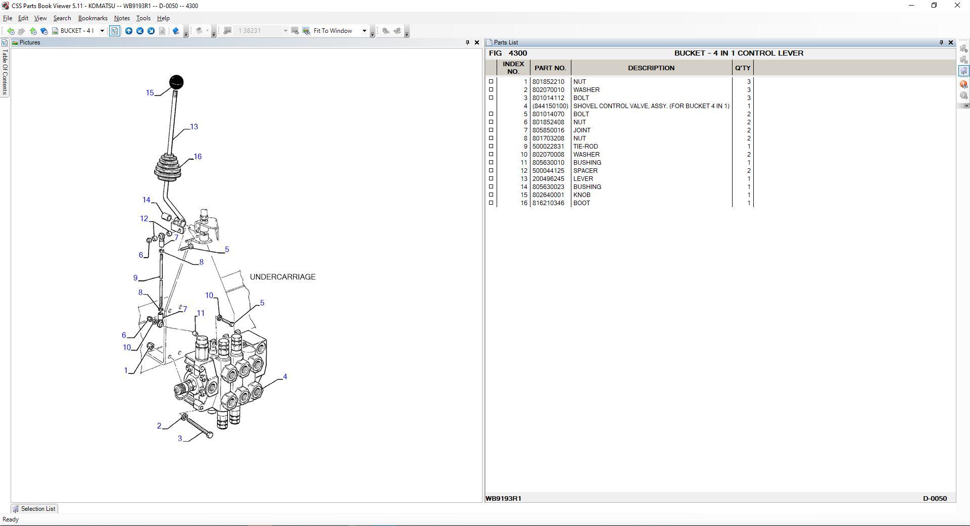 Komatsu_EPC_Linkone_CSS_Parts_Vewer_511_102019EU9