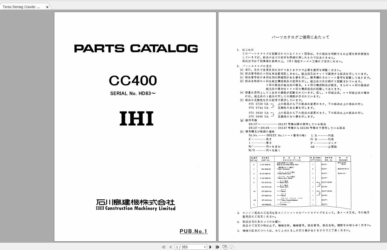 Terex_Demag_Crawler_Crane_CC400_HD83_Parts_Catalog_1