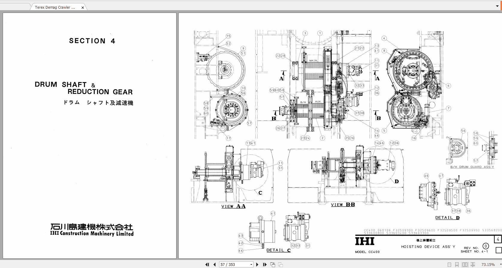 Terex_Demag_Crawler_Crane_CC400_HD83_Parts_Catalog_3