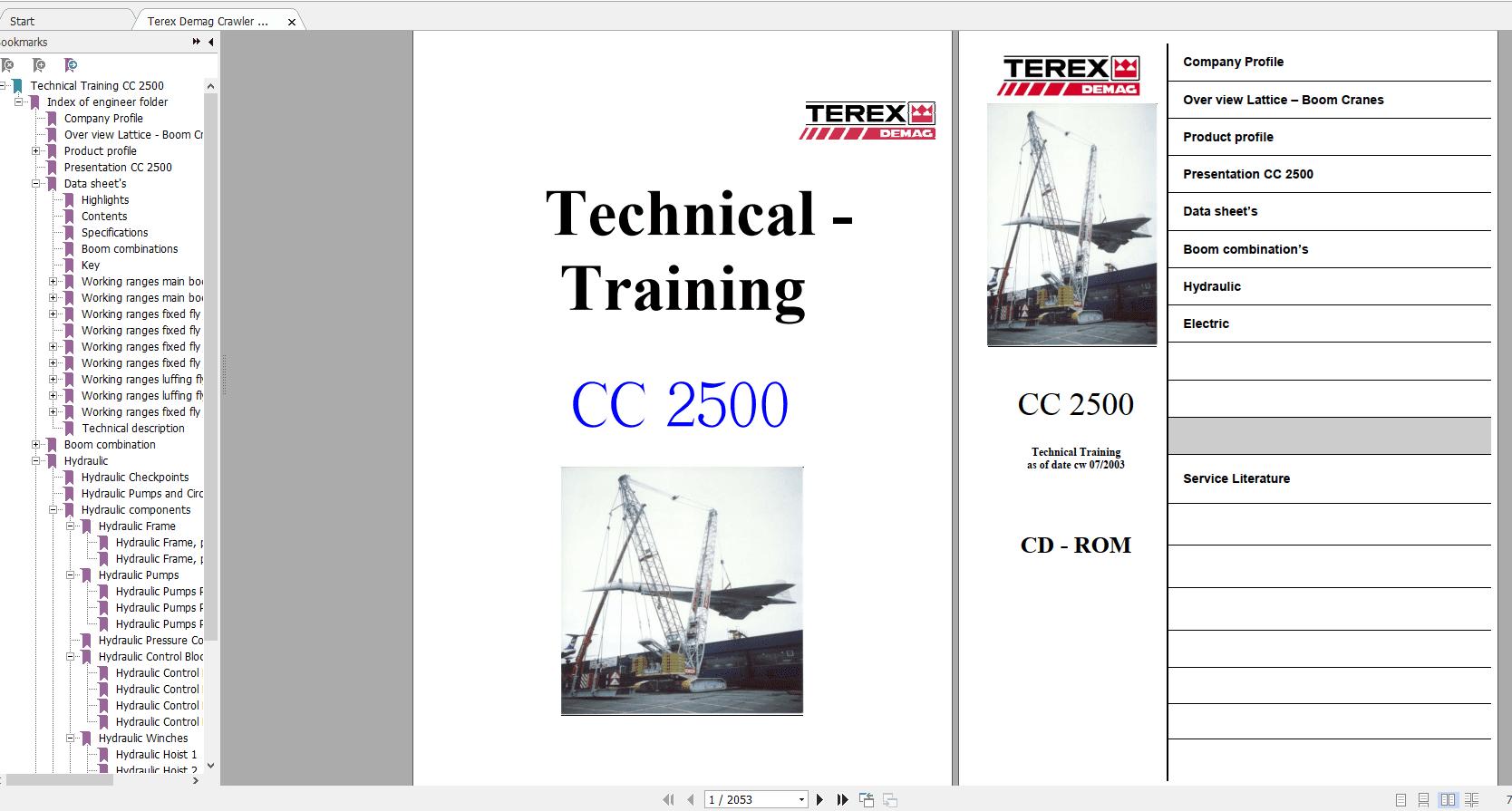 Terex_Demag_Crawler_Crane_CC_2500_Technical_Service_Manual