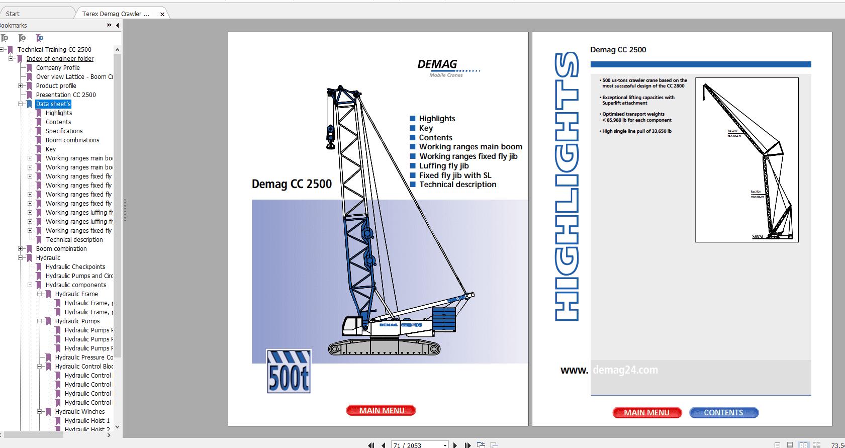 Terex_Demag_Crawler_Crane_CC_2500_Technical_Service_Manual_2