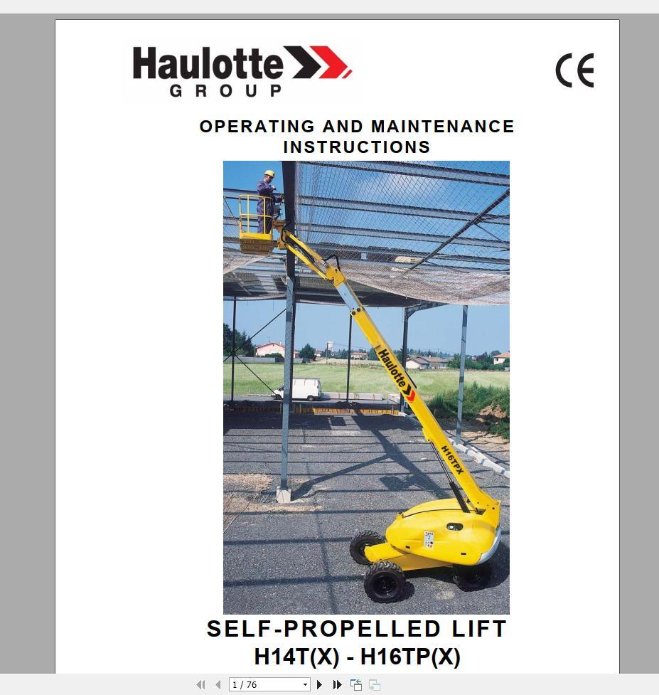 Haulotte_Work_Platforms_and_Telehandlers_Service_Maintenance_Operators_Manual_Training_Spare_Parts_Manual_DVD13