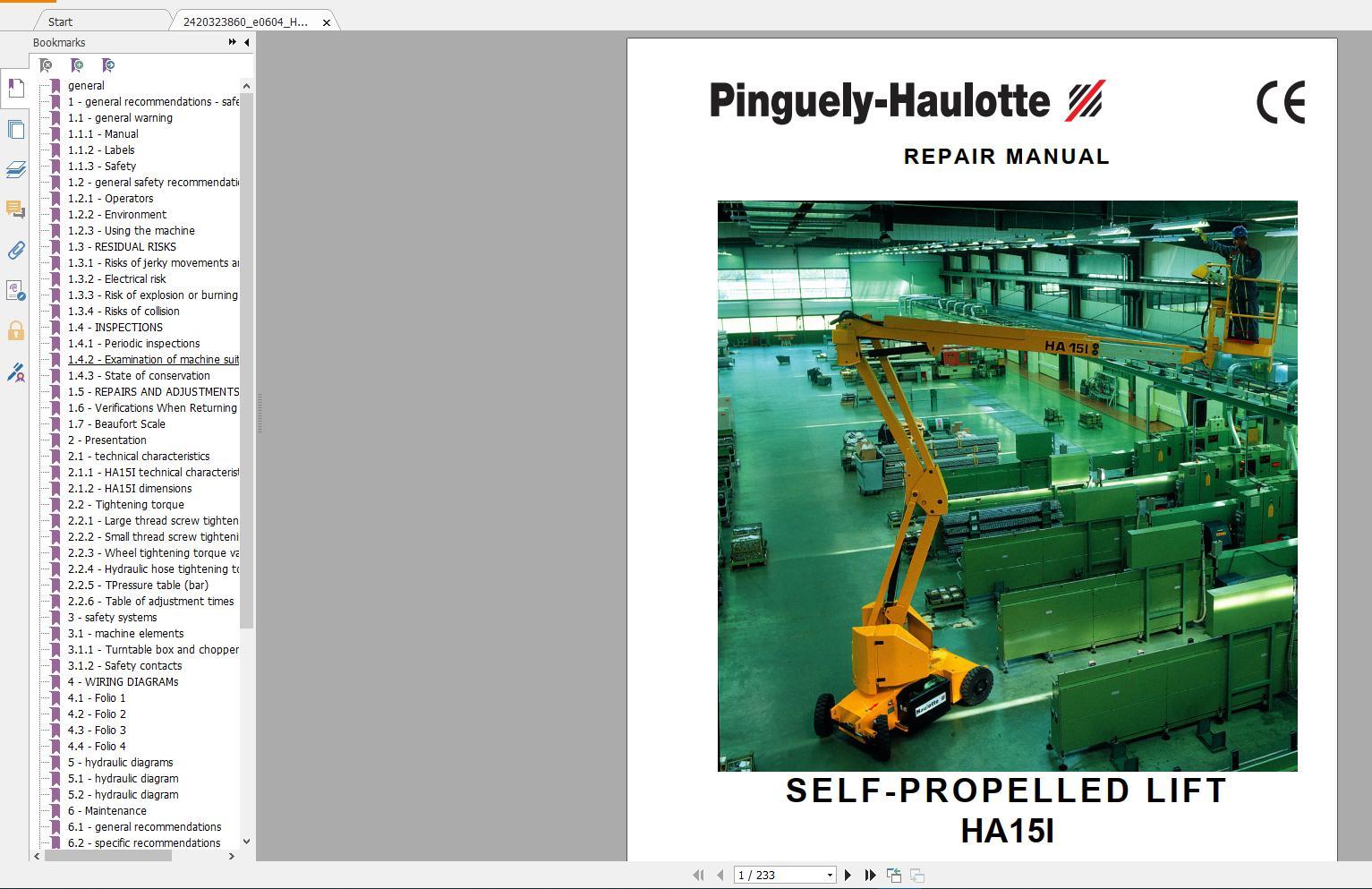 Haulotte_Work_Platforms_and_Telehandlers_Service_Maintenance_Operators_Manual_Training_Spare_Parts_Manual_DVD17