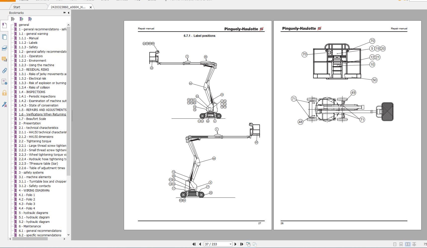 Haulotte_Work_Platforms_and_Telehandlers_Service_Maintenance_Operators_Manual_Training_Spare_Parts_Manual_DVD19