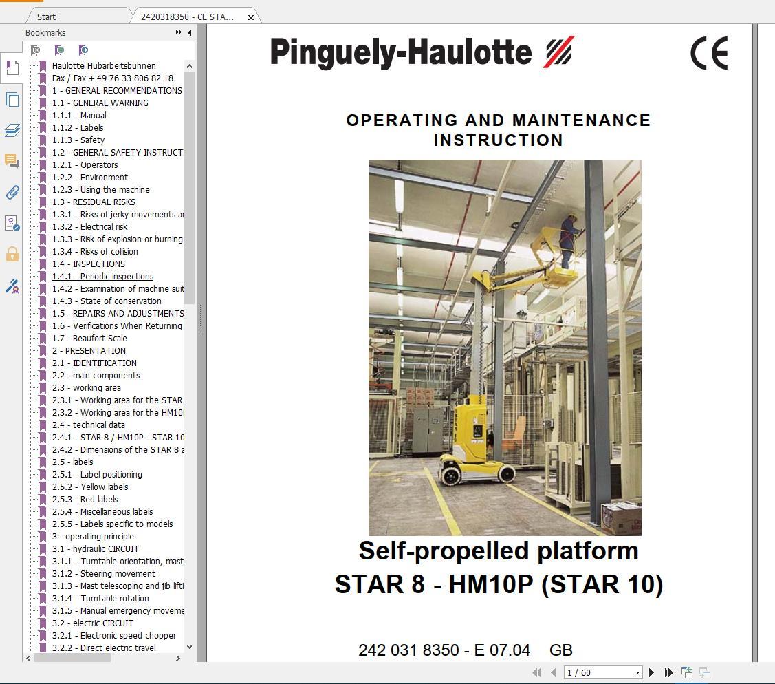 Haulotte_Work_Platforms_and_Telehandlers_Service_Maintenance_Operators_Manual_Training_Spare_Parts_Manual_DVD2