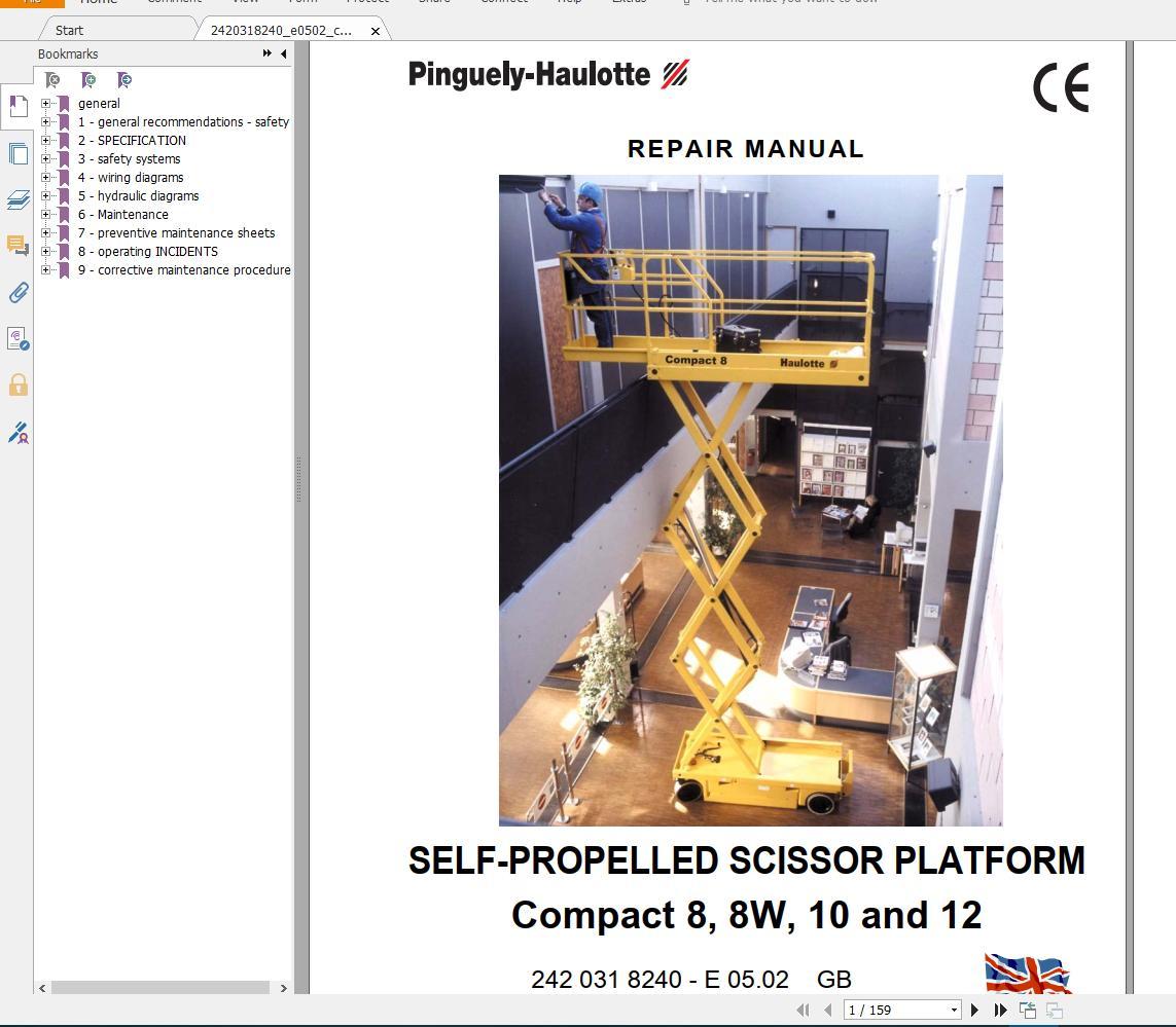 Haulotte_Work_Platforms_and_Telehandlers_Service_Maintenance_Operators_Manual_Training_Spare_Parts_Manual_DVD4