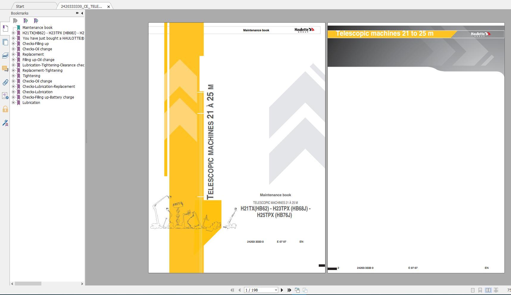 Haulotte_Work_Platforms_and_Telehandlers_Service_Maintenance_Operators_Manual_Training_Spare_Parts_Manual_DVD6