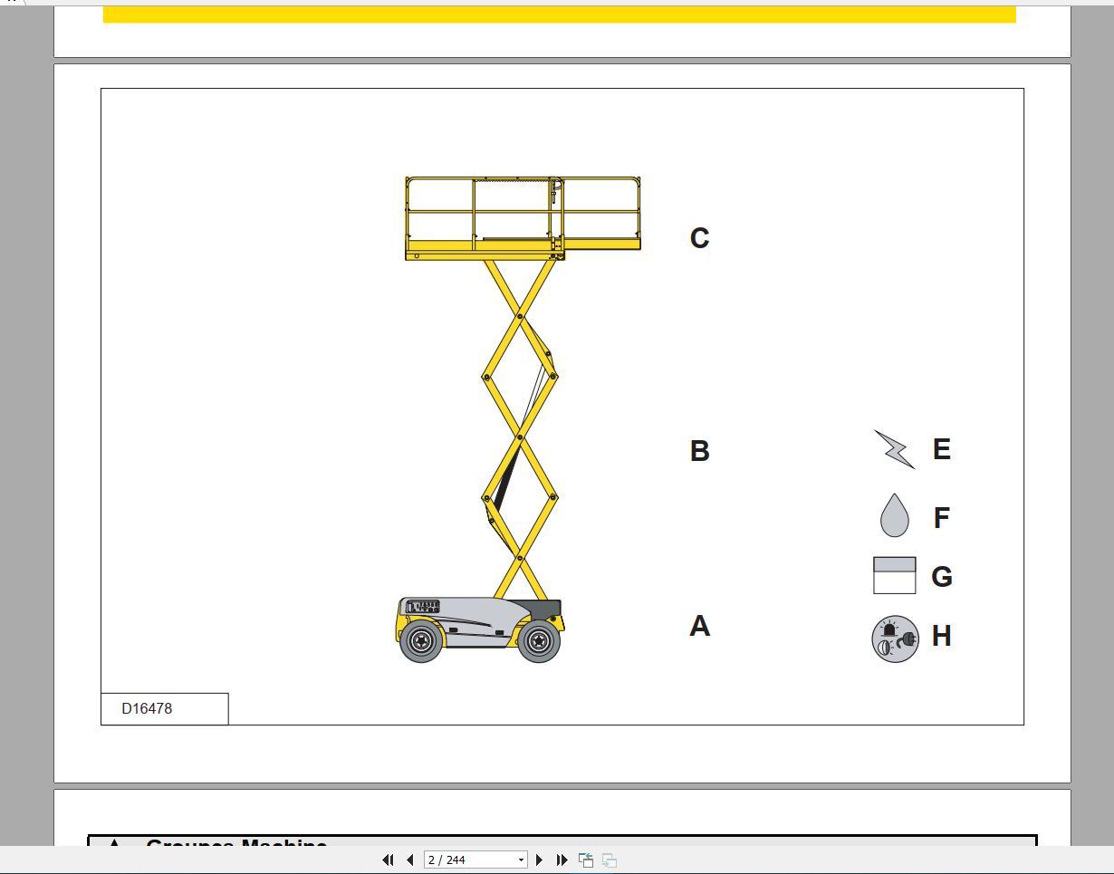 Haulotte_Work_Platforms_and_Telehandlers_Service_Maintenance_Operators_Manual_Training_Spare_Parts_Manual_DVD8