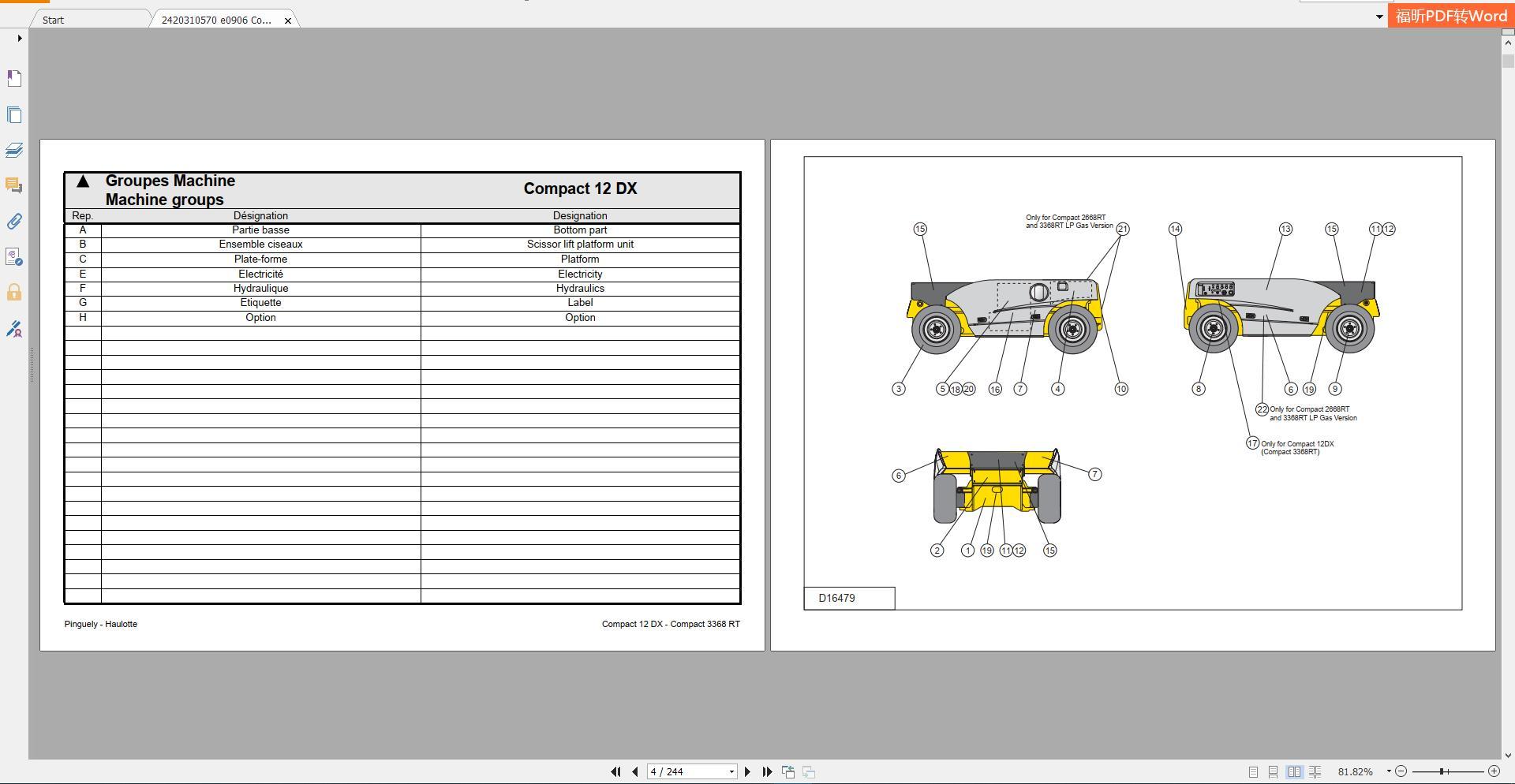 Haulotte_Work_Platforms_and_Telehandlers_Service_Maintenance_Operators_Manual_Training_Spare_Parts_Manual_DVD9