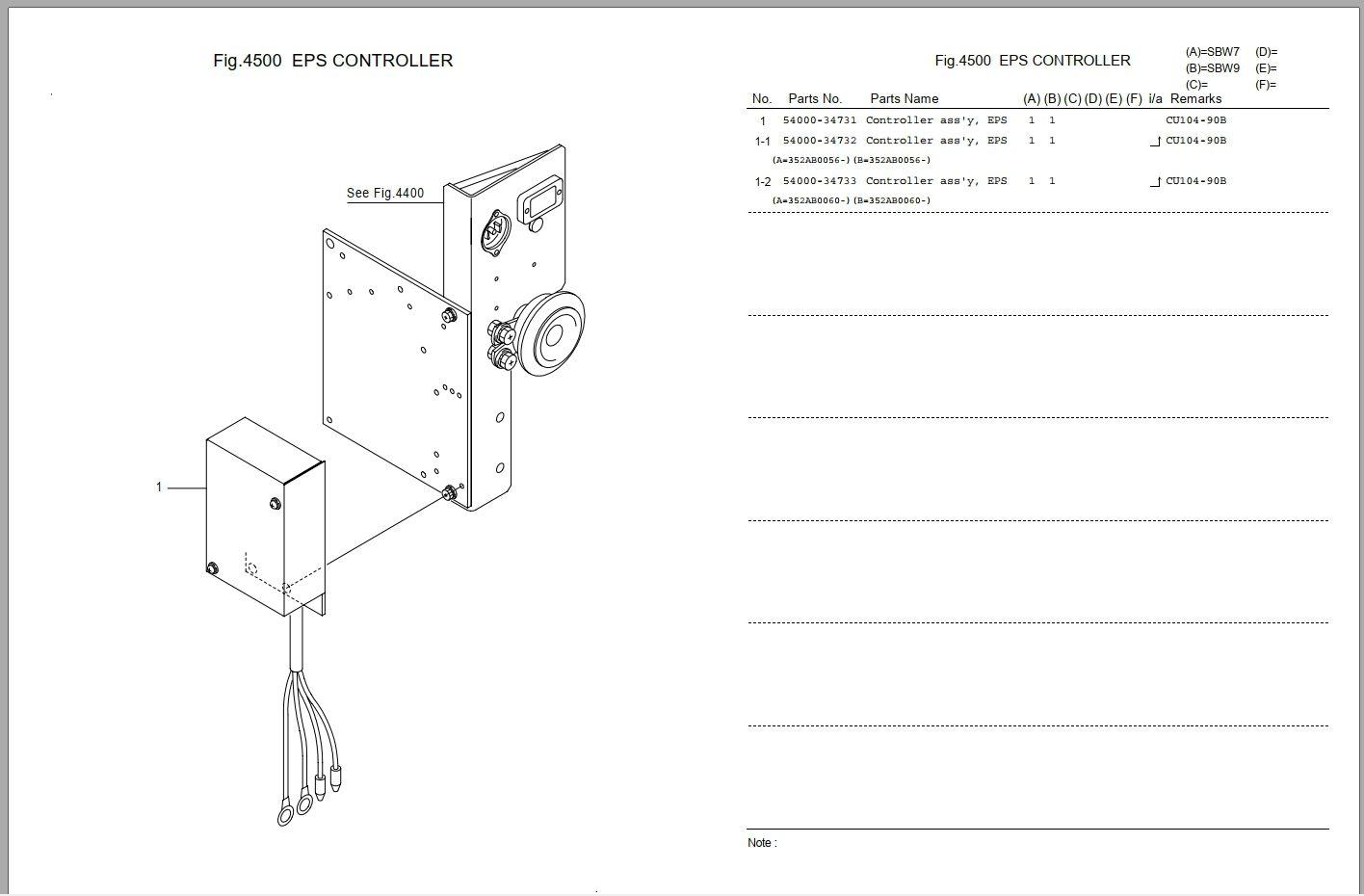 Nichiyu Forklift Fb Fbr Ht Pld Rb Rft Sbw Full Model Spare