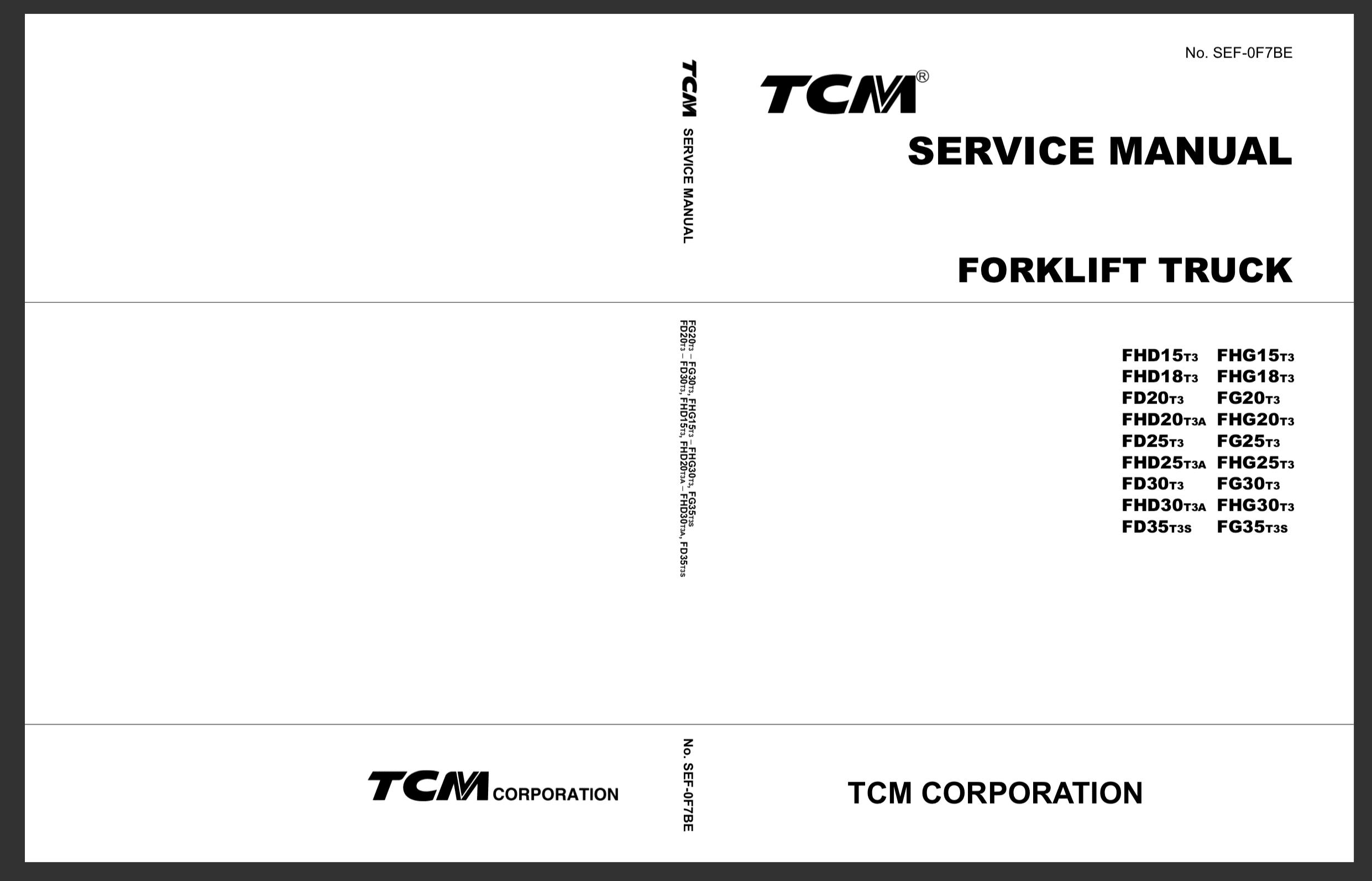 TCM Forklift FD-FHD-FHG 15-35 Service Manual - Auto Repair Software-Auto  EPC Software-Auto Repair Manual-Workshop Manual-Service Manual-Workshop  ManualAuto Repair Software-Auto EPC Software-Auto Repair Manual