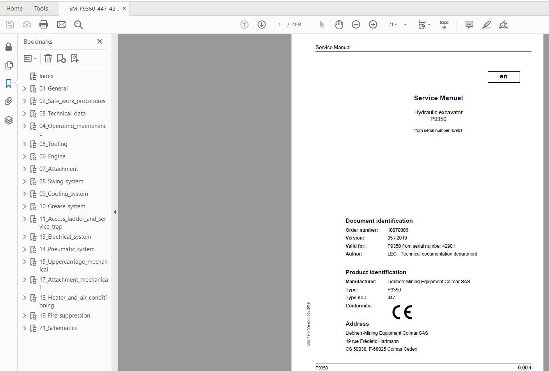 Liebherr_Mining_Excavators_Service_Manual_New_Updated_032020_15