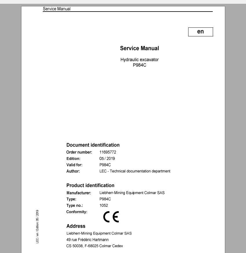 Liebherr_Mining_Excavators_Service_Manual_New_Updated_032020_19
