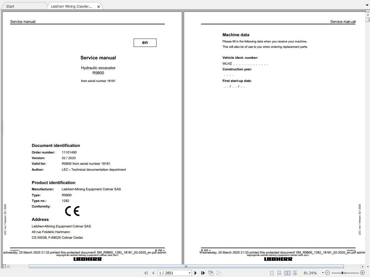 Liebherr_Mining_Excavators_Service_Manual_New_Updated_032020_2