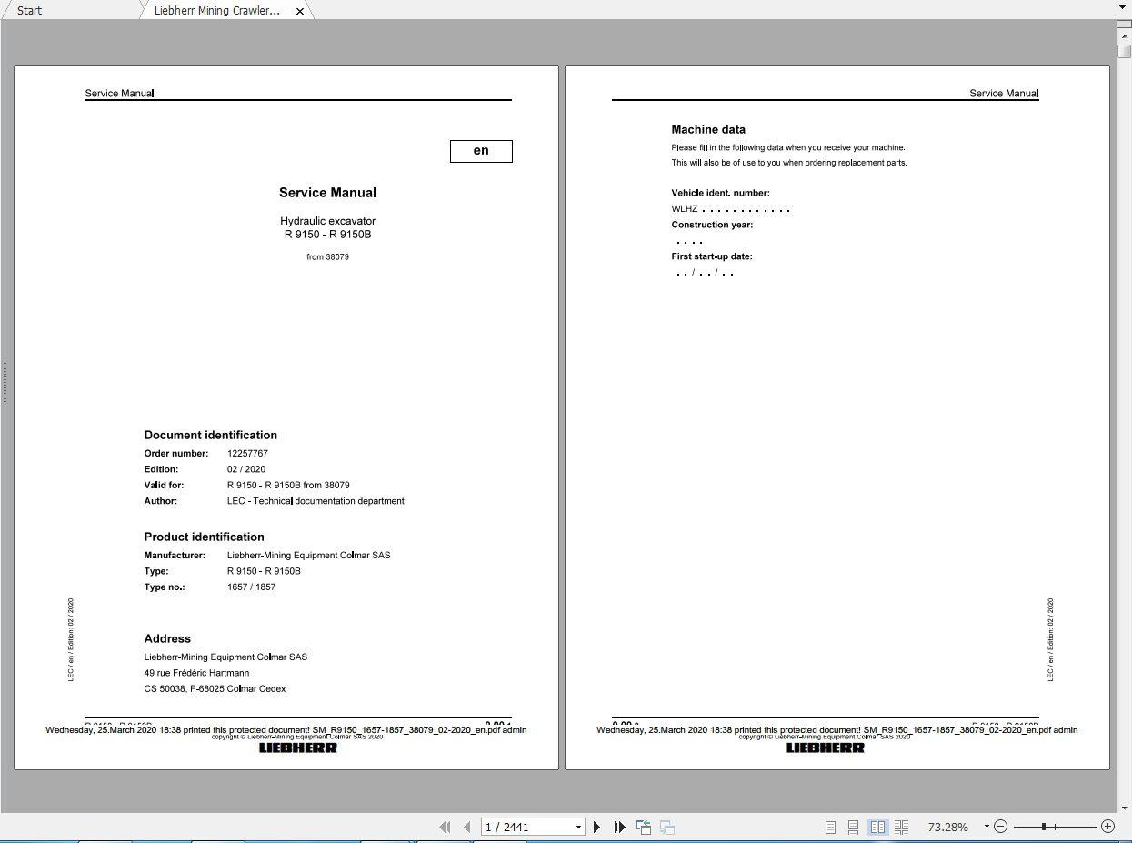 Liebherr_Mining_Excavators_Service_Manual_New_Updated_032020_5