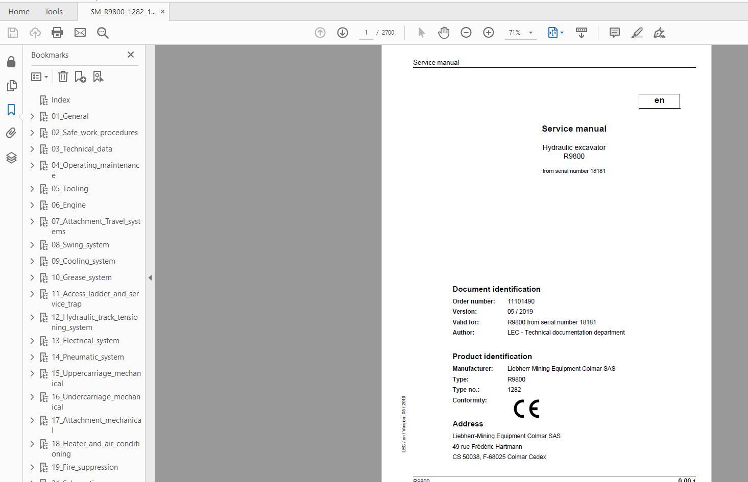 Liebherr_Mining_Excavators_Service_Manual_New_Updated_032020_7