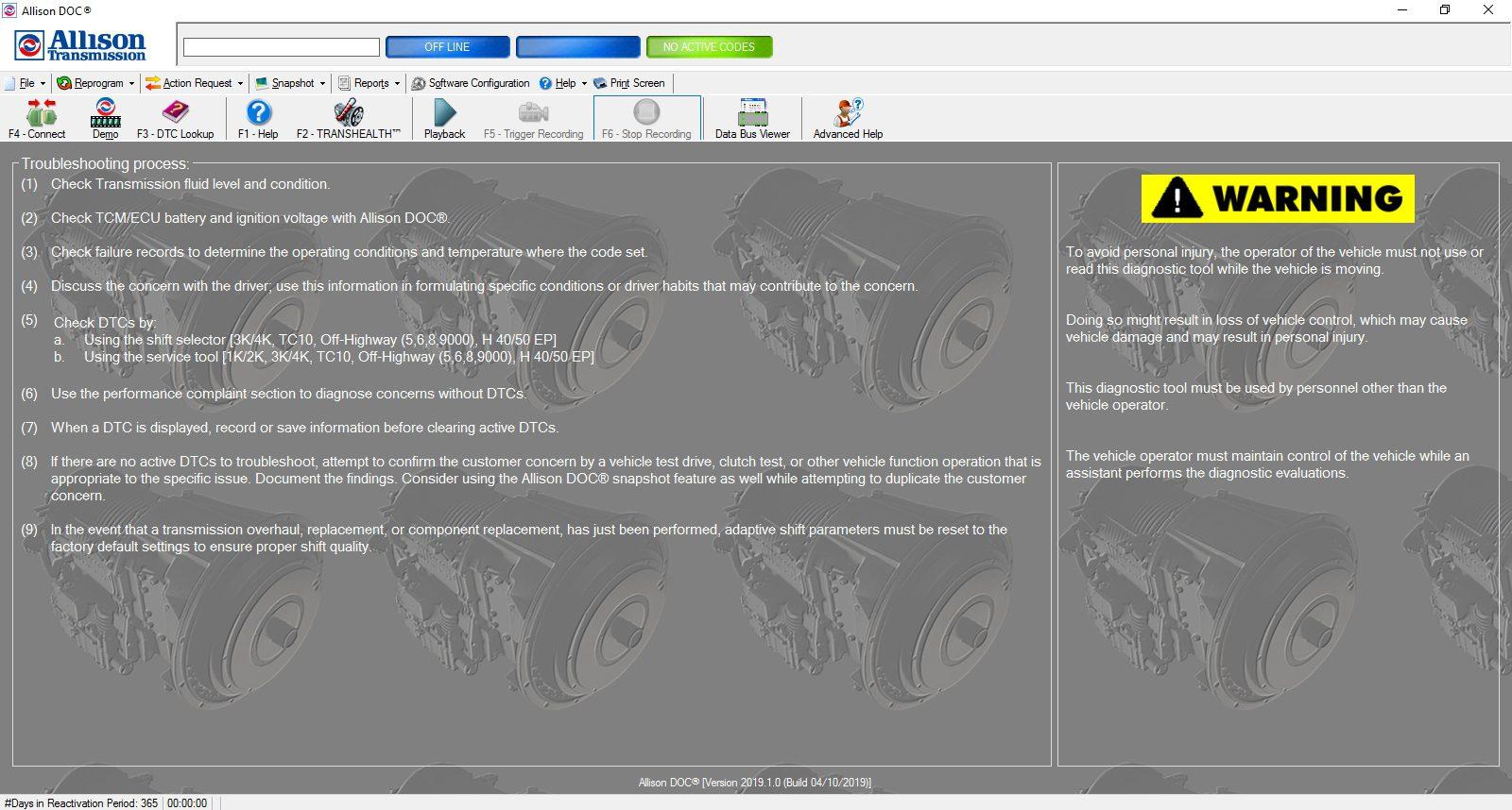 Universal_Allison_DOC_v201910_Build_042019_Transmission_Diagnostic_Software_Full_Instruction_1