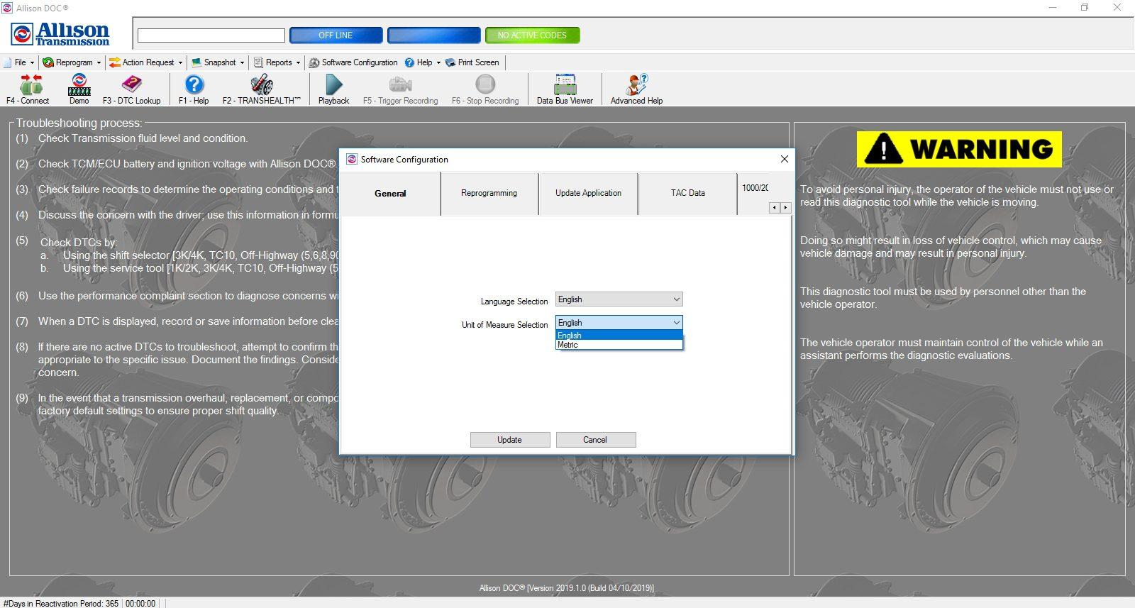 Universal_Allison_DOC_v201910_Build_042019_Transmission_Diagnostic_Software_Full_Instruction_15