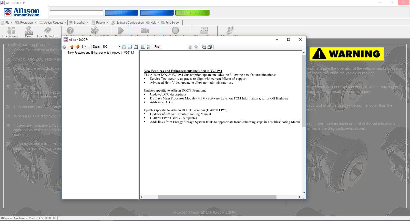Universal_Allison_DOC_v201910_Build_042019_Transmission_Diagnostic_Software_Full_Instruction_18