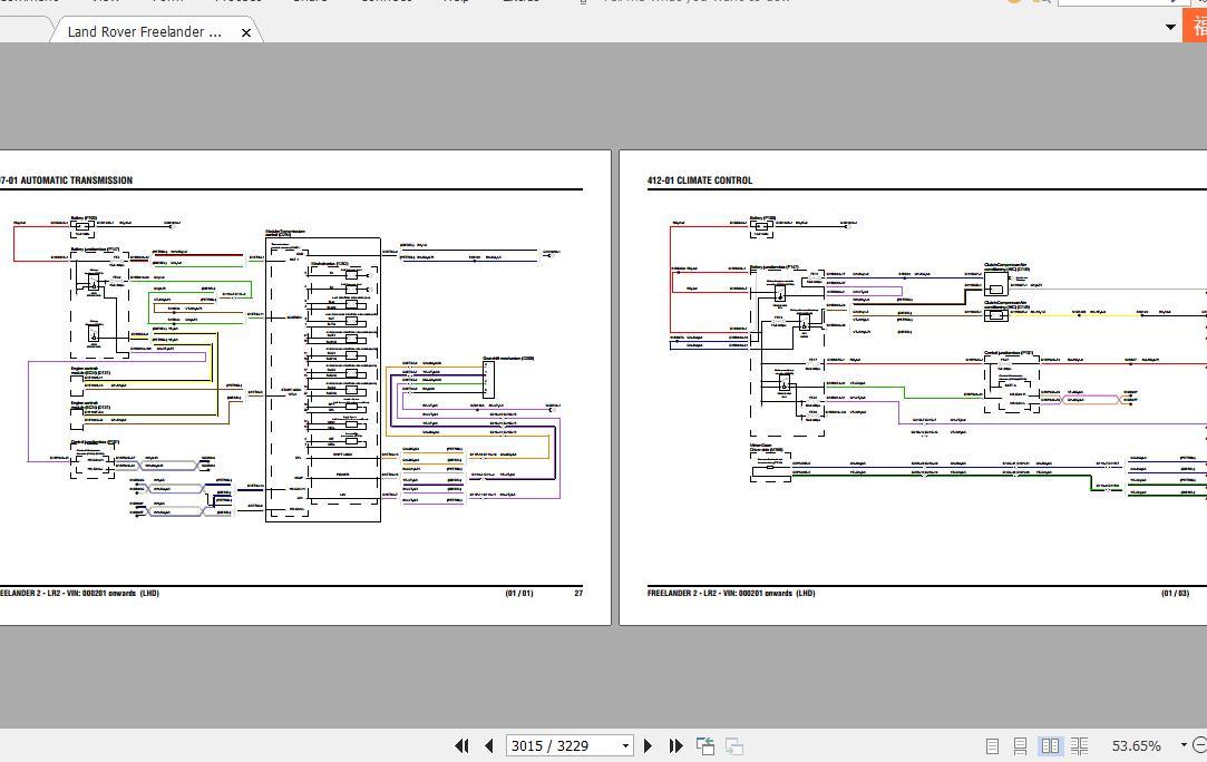 Land Rover Freelander Ii Repair Manual  U0026 Wiring Diagrams 2006-2010