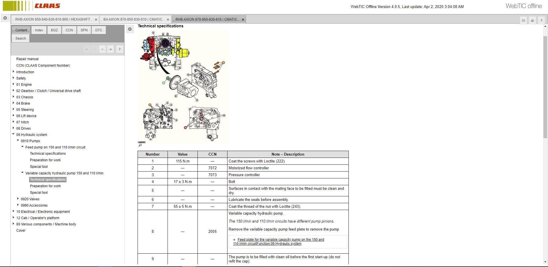 CLAASWebTICOffline2020RepairandServiceDocumentation11
