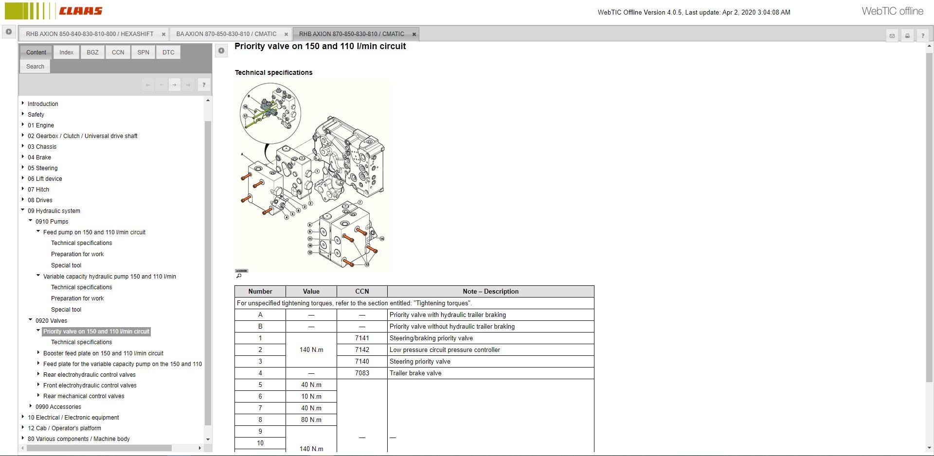 CLAASWebTICOffline2020RepairandServiceDocumentation12