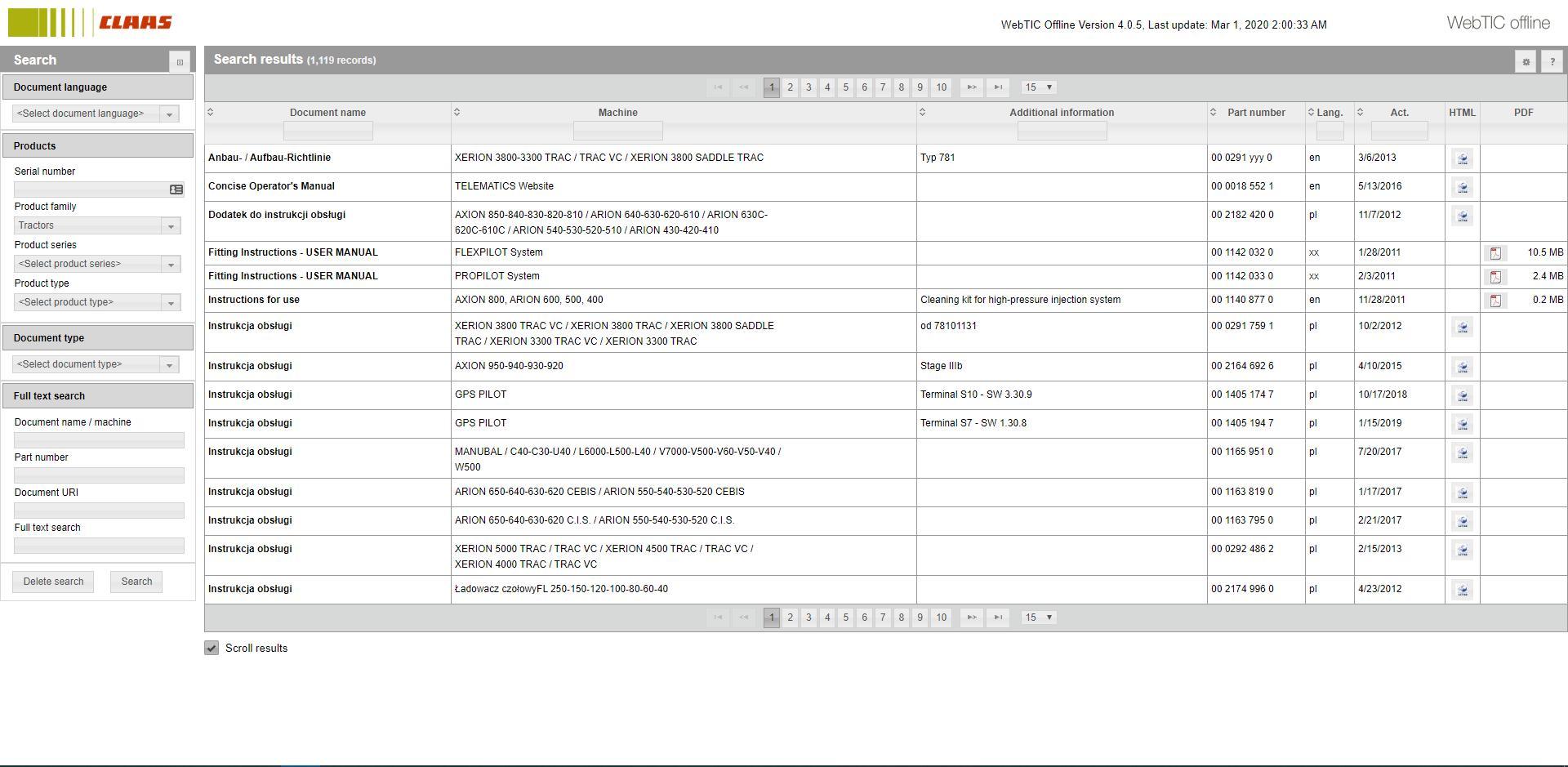 CLAASWebTICOffline2020RepairandServiceDocumentation2