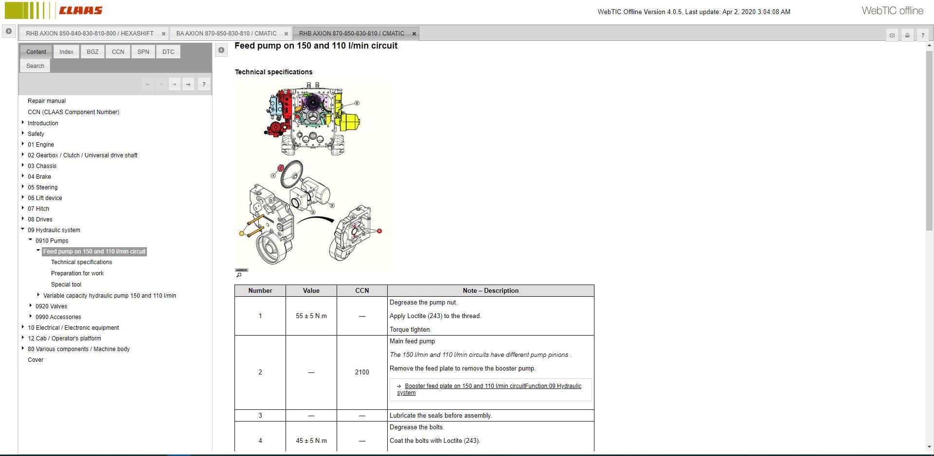 CLAASWebTICOffline2020RepairandServiceDocumentation4