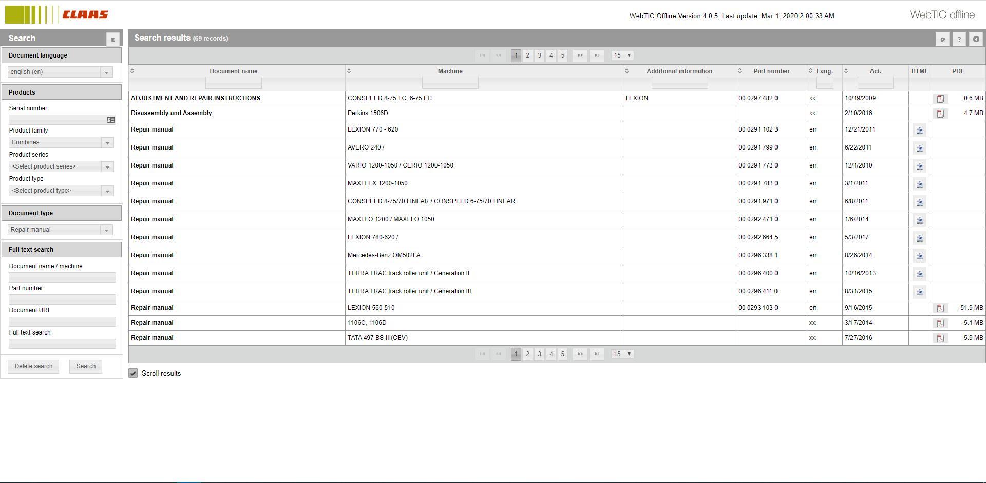 CLAASWebTICOffline2020RepairandServiceDocumentation7