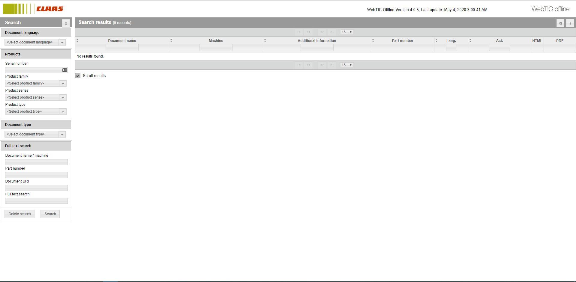 CLAAS_WebTIC_Offline_052020_Operator_Manual_Repair_Manual_and_Service_Documentation