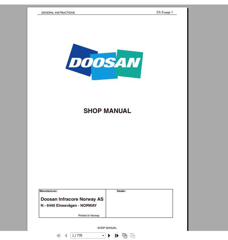 Doosan_All_Model_Full_Service_Manual_DVD1