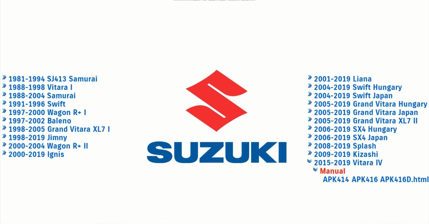 Suzuki 1981-2019 Models Service Manuals f1