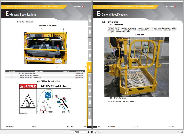 Haulotte_Work_Platforms_062020_Service_Maintenance_Operators_Manual_Training_Spare_Parts_Manual_DVD8