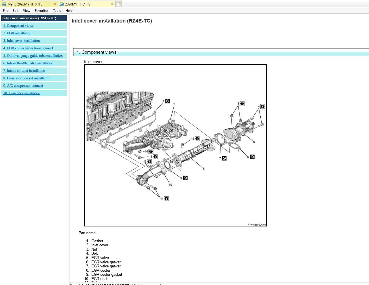 Isuzu Pickup Truck  04 2020  Workshop Manual Service
