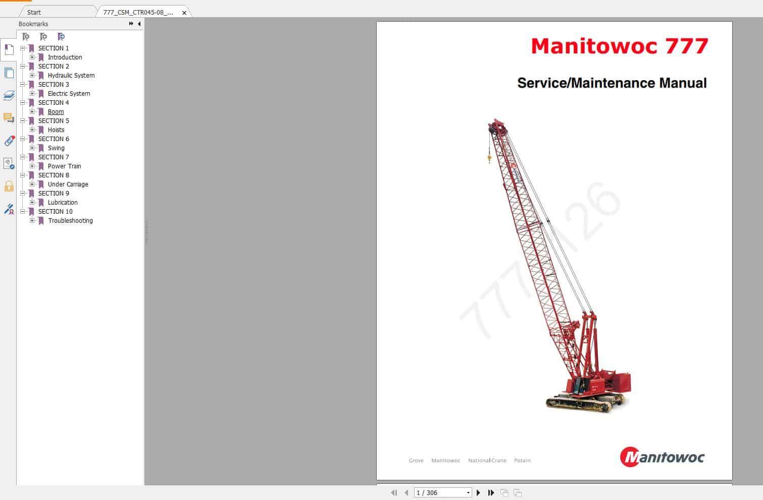 Manitowoc_Crawler_Cranes_All_Full_Model_Service_Manual_DVD4