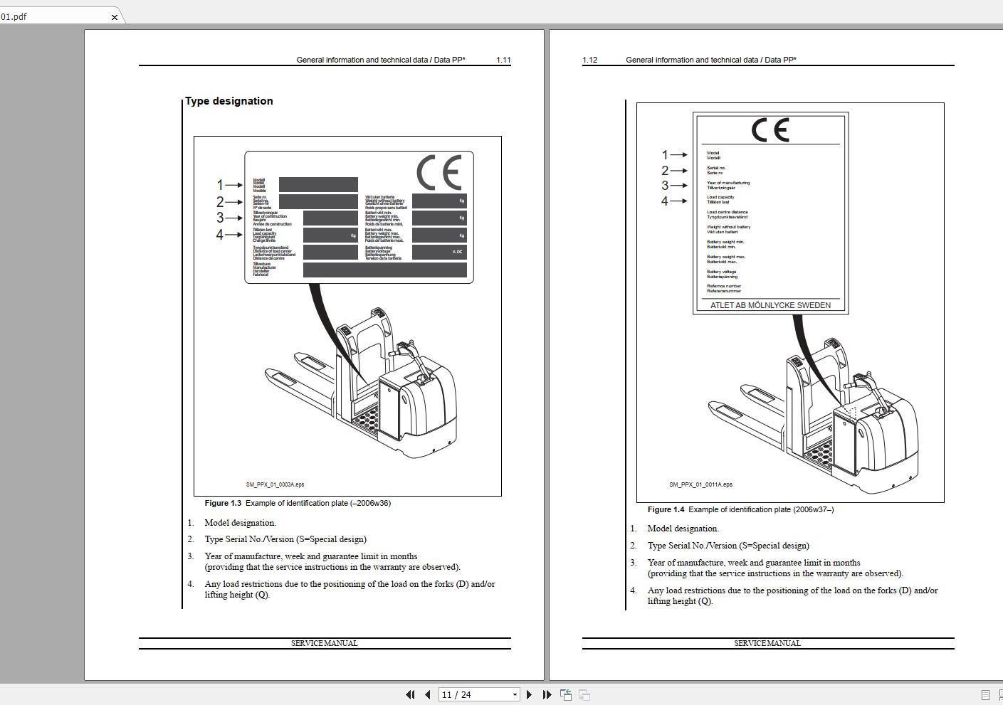 Nissan_Forklift_Warehouse_PP_Series_119036-119037_Service_ManualENDE_1