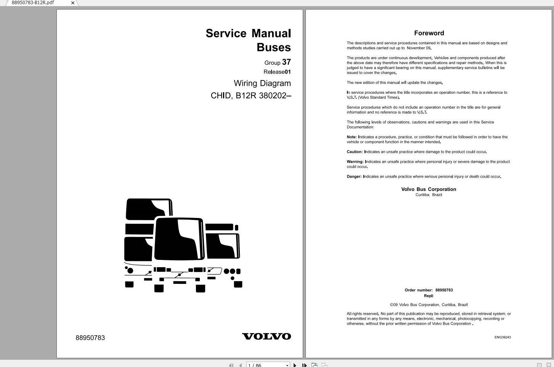 Volvo B12M Trucks Service Manual Buses & Wiring Diagrams - Auto Repair  Software-Auto EPC Software-Auto Repair Manual-Workshop Manual-Service  Manual-Workshop Manual   Volvo Bus Wiring Diagram      Auto Repair Software-Auto EPC Software-Auto Repair Manual