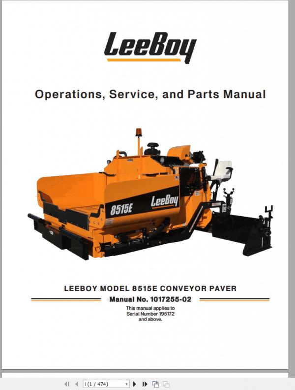LeeBoy_1000D_Asphalt_Paver_Manual_7