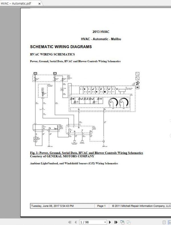 Chevrolet Malibu 2011-2016 Workshop Manual  U0026 Wiring Diagrams