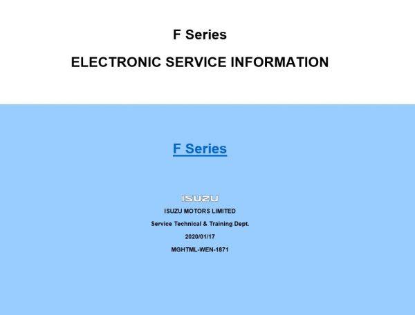 Isuzu Idss  Usa  Diagnostic Service System  05 2020