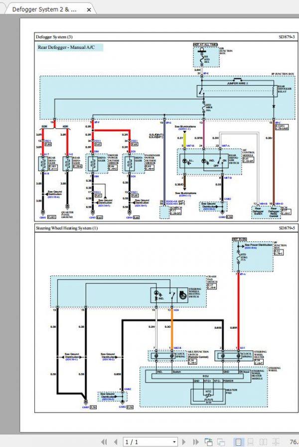 Kia Rio Ub 2018 Service Manuals, Kia Rio Wiring Diagram