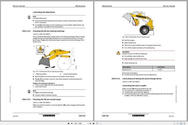 Liebherr Wheel Loader L508 1261 Service Manuals