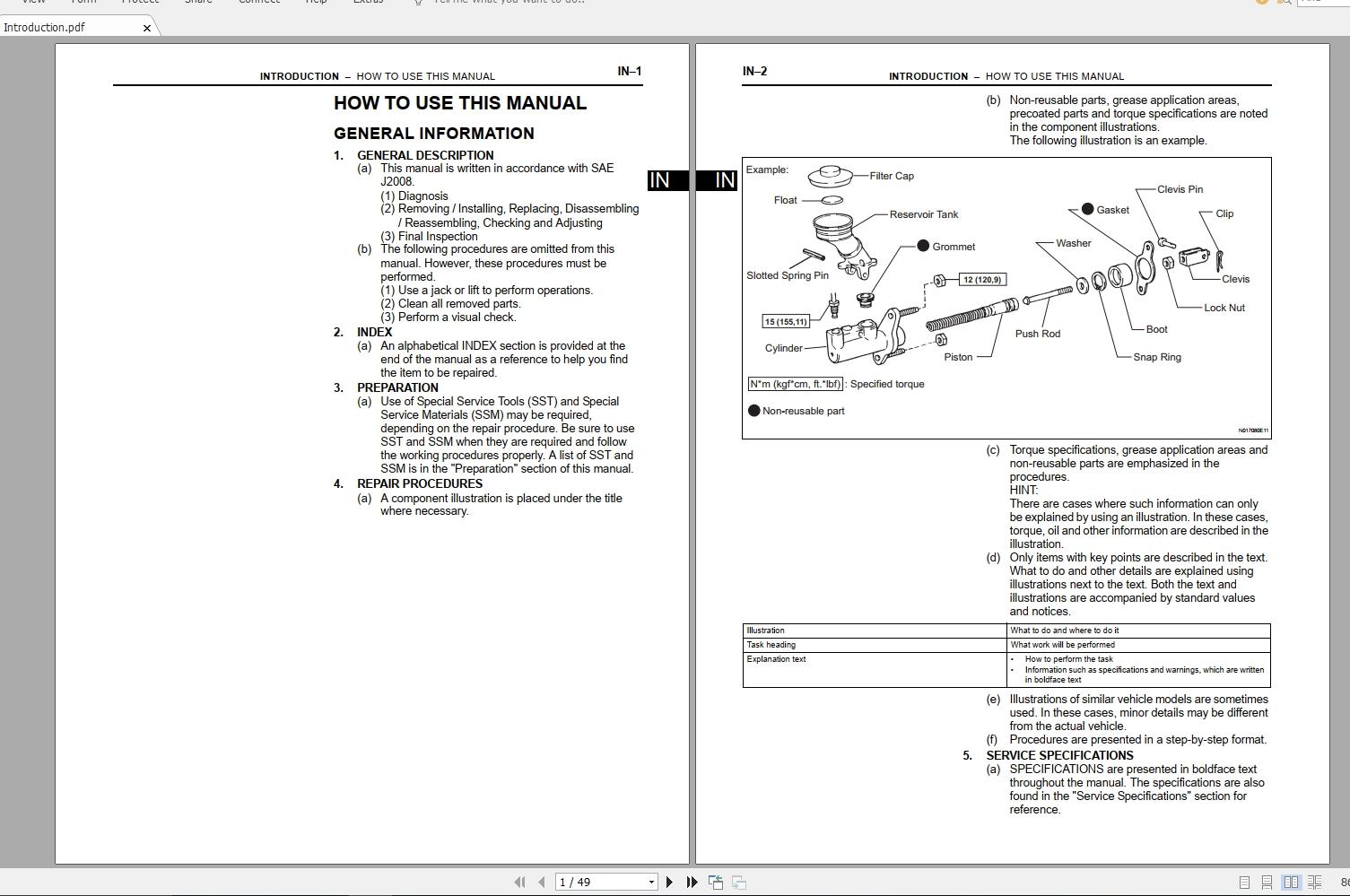 Toyota Scion tC [2007] Workshop Service Manual - Auto