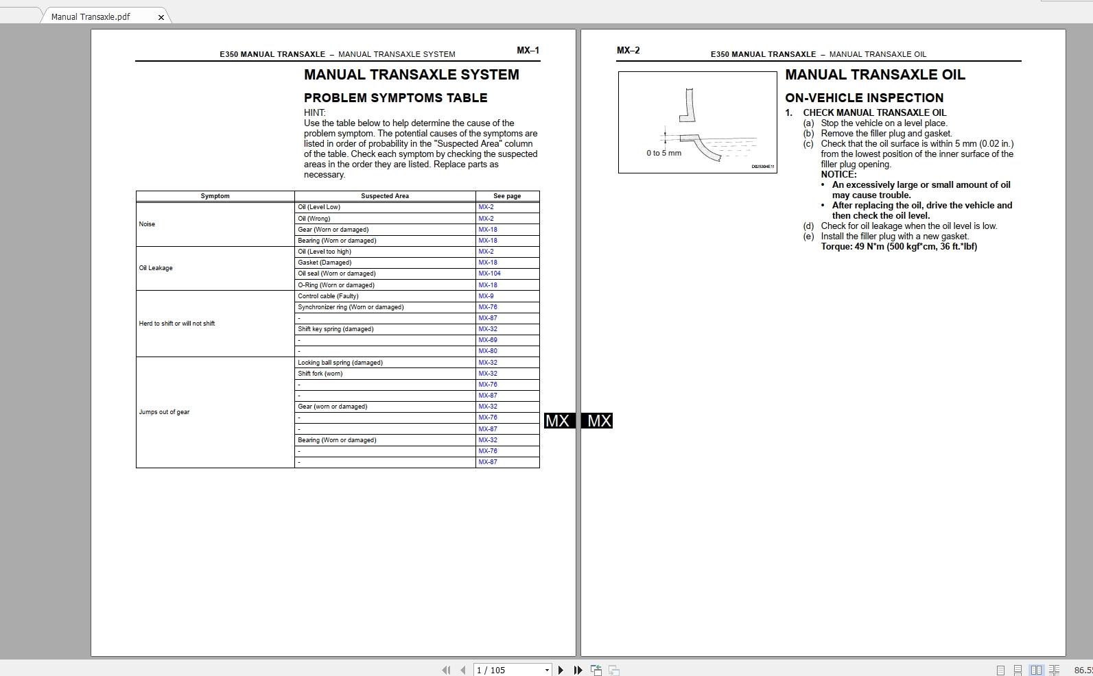 Toyota Scion Tc  2007  Workshop Service Manual